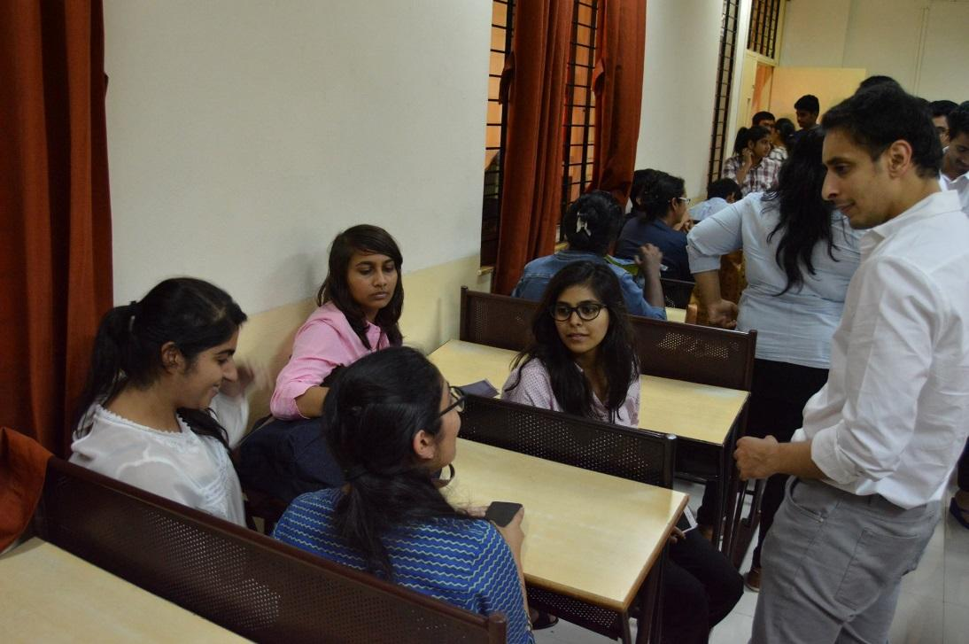 Sharan Singh discussion with Students