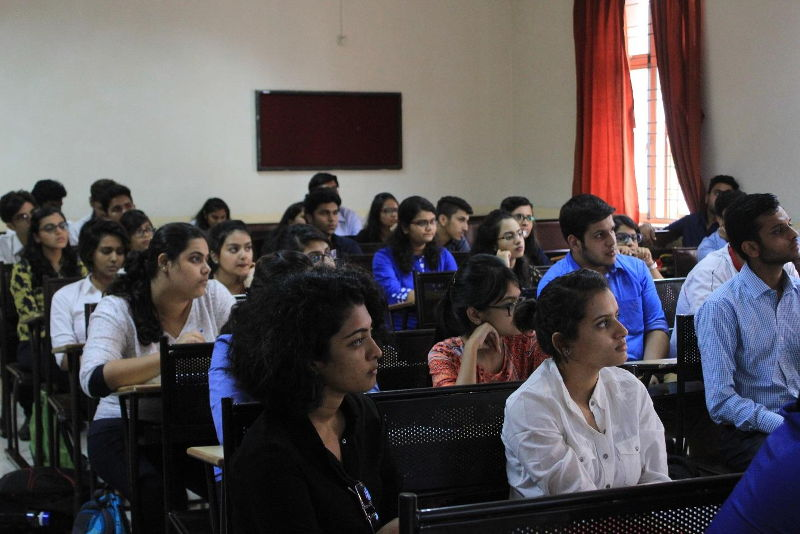 Students listening attentively